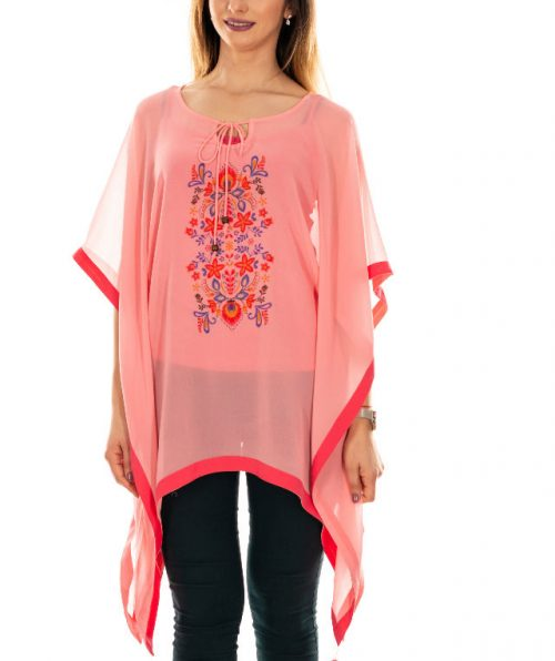 Bluza vaporoasa roz, Marime S-M